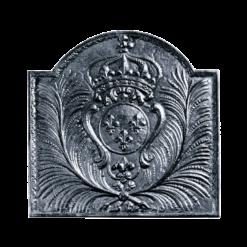 Plaque de fonte-Armes de France-Fonte-Noir-