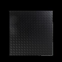 Plaque de sol-Tôle à damiers-Aluminium / Epaisseur 3 mm-Noir givré-