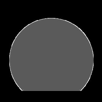 Plaque de sol-Ronde coupée-Acier-Gris sablé-