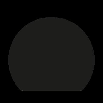 Plaque de sol-Ronde coupée-Acier-Noir givré-