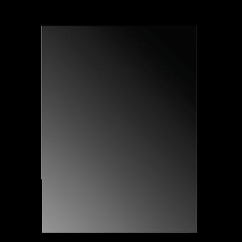 Plaque de sol-Reflet-Verre trempé-Verre / Reflet noir-
