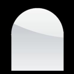 Plaque de sol-Demi-ronde-Verre trempé-Verre-