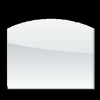 Plaque de sol-Arrondie-Verre trempé-Verre-
