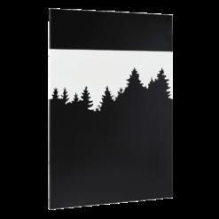 Plaque décorative-Forest-Acier / Silicate de calcium-Blanc mat-