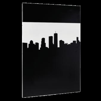 Plaque décorative-City-Acier / Silicate de calcium-Blanc mat-