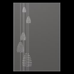 Protection murale-Archimède-Acier / Silicate de calcium-Gris sablé-