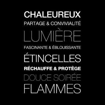 Protection murale-Dialecte-Acier / Silicate de calcium-Noir givré-