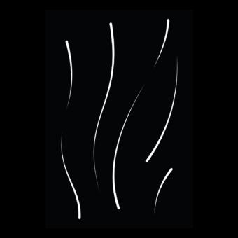 Protection murale-Flux-Acier / Silicate de calcium-Noir givré-