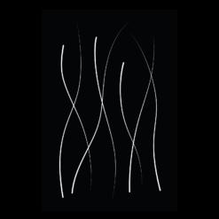 Protection murale-Fiamma-Acier / Silicate de calcium-Noir givré-