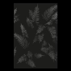 Protection murale-Fougères-Acier / Silicate de calcium-Noir givré-